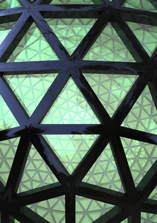 diminishing point: part of abstract dome