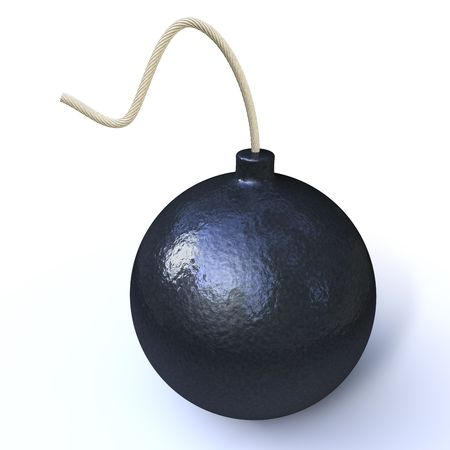 subversion: bomb isolated on white background