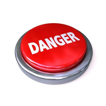 powerbutton: dangerbutton rojo aislado sobre fondo blanco