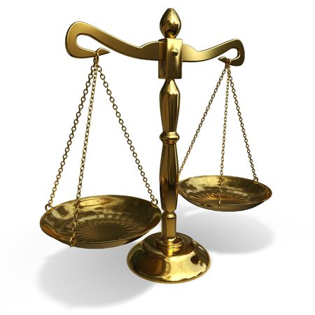 imbalance: geïsoleerde gold evenwicht op witte achtergrond