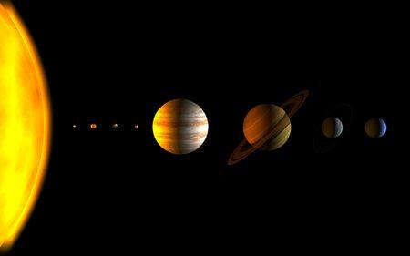 todos los planetas del sistema solar  Foto de archivo - 6382486