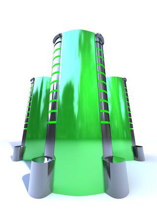 futuristic metallic server case isolated on white background Stock Photo - 6382487