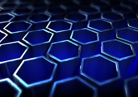 abstract background with hexagonal grid Stock Photo - 6913713