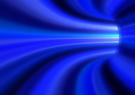 abstract virtual blue tunnel background photo