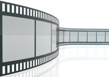 Wavy Film Strip Isolated On White Background Standard-Bild