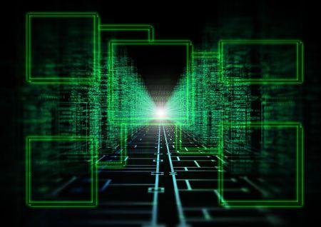 3D-afbeelding van een circuit met languageon kanten van de vergadering  Stockfoto - 6913917