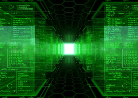 Hacker World Revolution Standard-Bild
