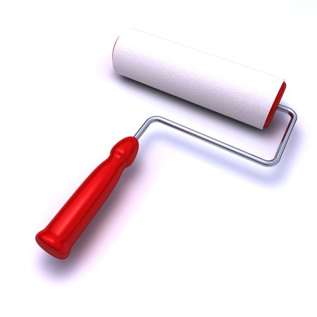 paint roller isolated on white background Stock Photo - 6913966