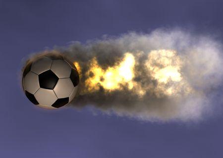 Soccer Ball FireBall in the sky photo