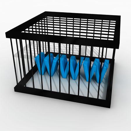 censor: jail with www twxt inside.internet censorship