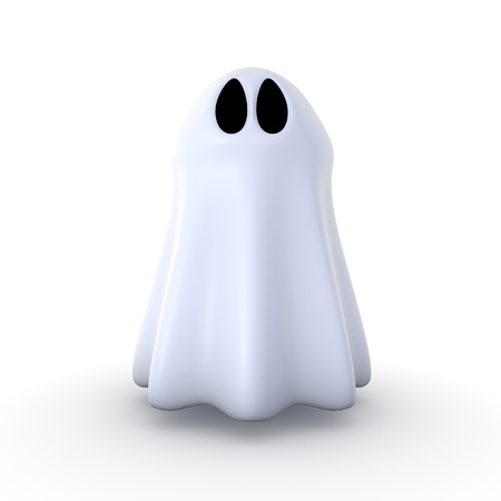 3d ghost isolated on white background Фото со стока