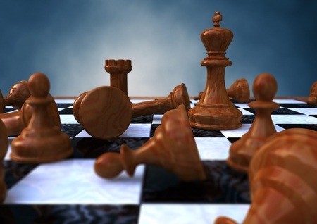 3d rendering of a closeup of a chessboard photo