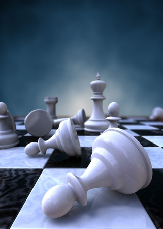 bishop chess piece: 3d rendering of a closeup of a chessboard