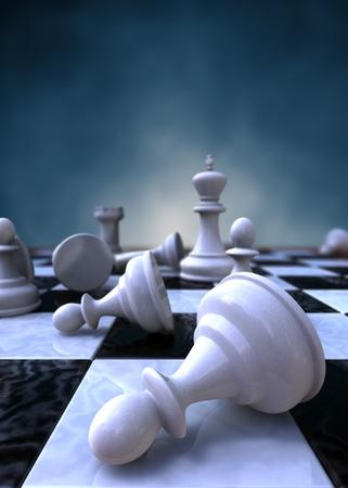 ajedrez: representaci�n 3D de un detalle de un tablero de ajedrez Foto de archivo