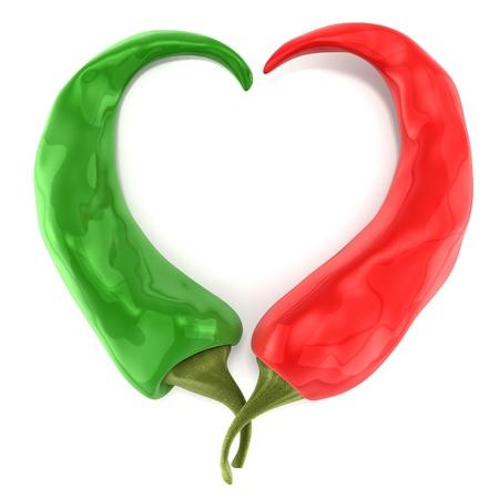 oye forma chilli peppers Foto de archivo