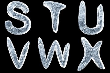 3D beeld van icy letter type collectie Stockfoto - 8828779