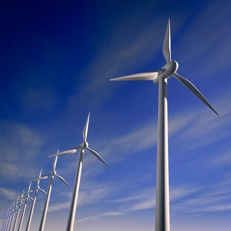 regenerating: wind turbines