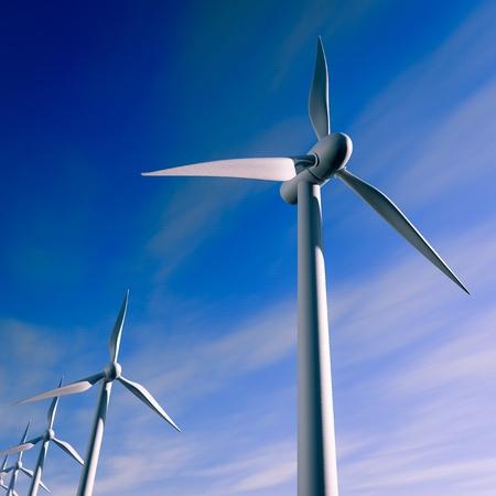 electric current: wind turbines