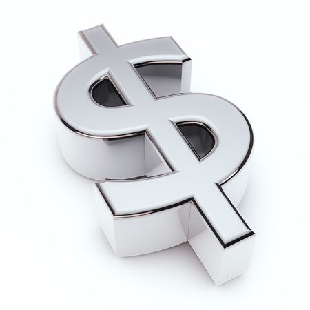 us currency: render of a dollar symbol Stock Photo