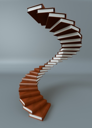 Render of a stair made of books Stock Photo - 14237182