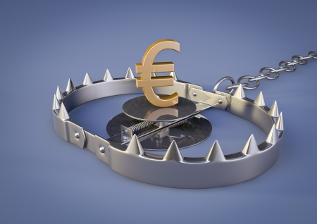 render of a bear trap with euro lure Stock Photo - 14226875