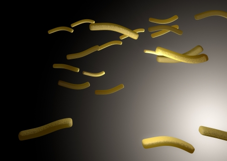 Render of flying french chips photo