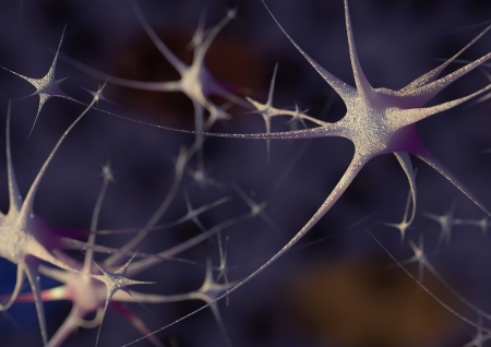 Render of gorup of neurons photo