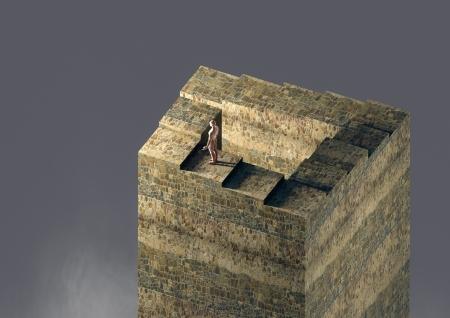 Render van een oneindige trap Stockfoto - 14237046