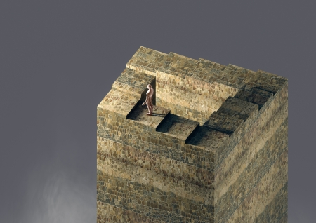 Render of an infinite stair