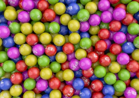 Render of colorful Vitamin Spheres Stock Photo - 14237041