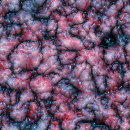 Digital generated image of a seamless texture of the organic tissue