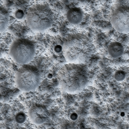 Digital generated image of a seamless texture of the moon surface photo