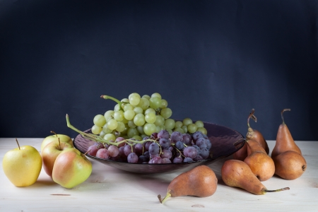 Apples, pears and and grapes Fruits photo
