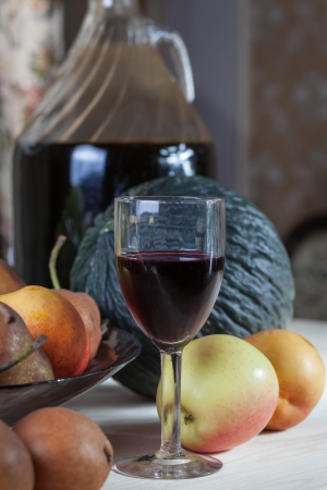 Wine and fruit photo
