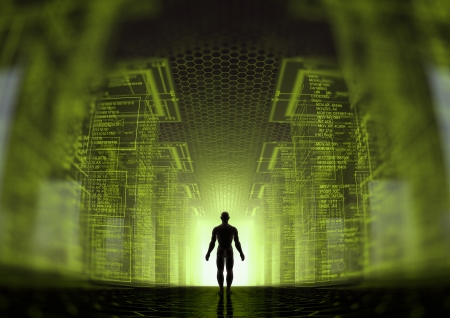 tron: hacker world Stock Photo
