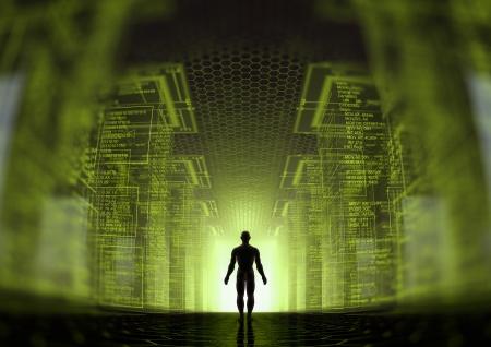 monde des hackers Banque d'images