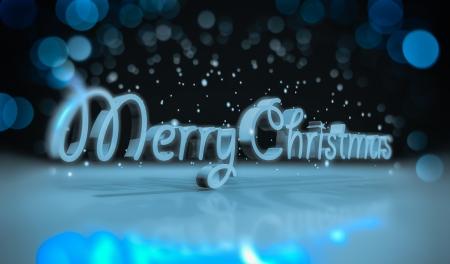 x mas: 3d text merry christmas
