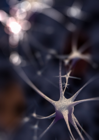 Render of gorup of neurons