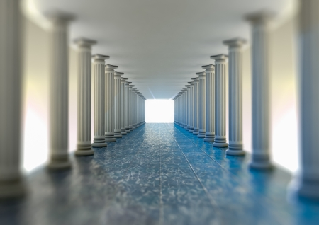 pillar: paradise hall 3d rendering