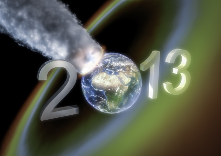 New year 2013 armageddon greeting photo