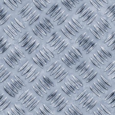 salvage yards: Dirty diamond plate seamless texture Stock Photo