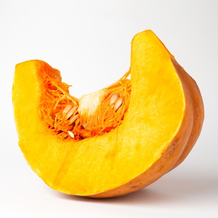 Orange pumpkin isolated  on white background with clipping path photo
