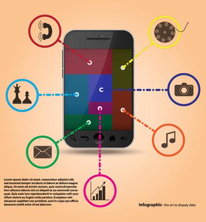 Infografika Szablony usługi smartfonów Ilustracje wektorowe