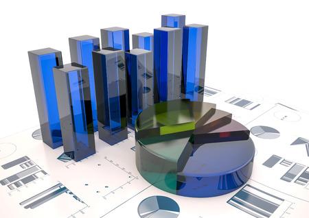 Grafieken van de financiële analyse - Geïsoleerde