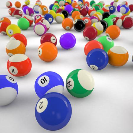 Biljartballen Stockfoto