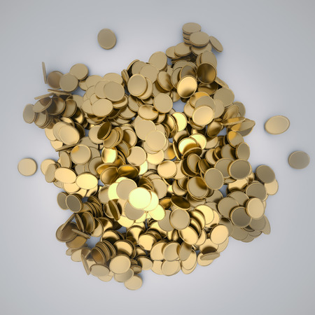 pila: pile of golden coins Stock Photo