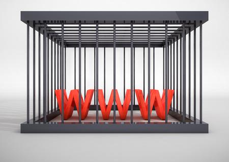censor: internet censorship concept
