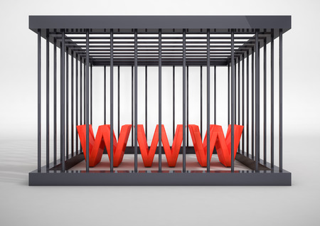 internet censuur-concept Stockfoto