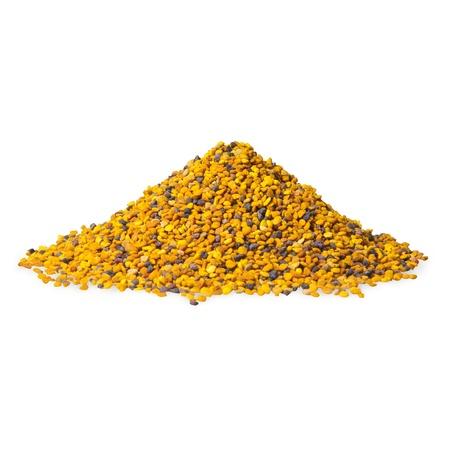 bee pollen: Bee Pollen op een witte achtergrond Stockfoto