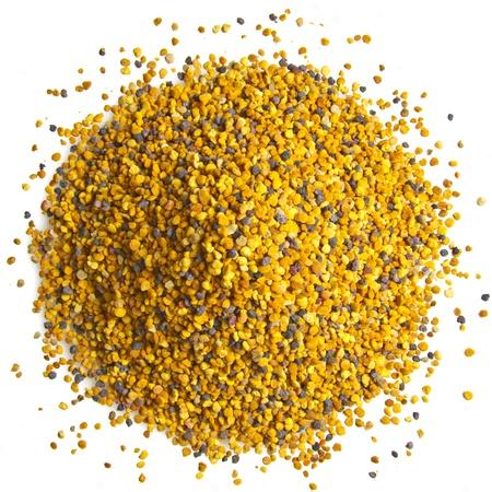 Bee Pollen op een witte achtergrond
